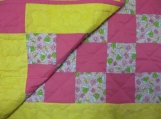 Pink & Yellow Baby Quilt