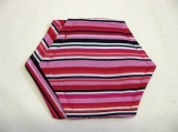 Pink & Red Stripped Coasters