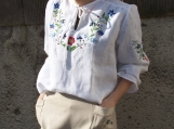 Typical Polish Folk Costume with handmade Floral Embroidery