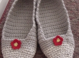 Crocheted Kitchen Slippers