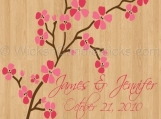 Wedding Dance Floor Decals Pink Cherry Blossom