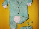 Baby Jump Suit with Hat 0-6 months