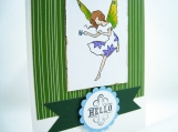 Hello Card with Butterfly Fairy - 10% to Dog Charity
