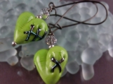 Lampworked Zombie Earrings