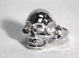 Skull Ring in Silver by Jewels Curnow