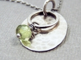 Simplicity Necklace - Sterling Silver and Peridot