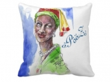 "Handmade Beautiful African Fashionista Throw Pillow 20"" x 20"""