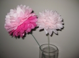 12 Tissue Paper Flower Pom Poms, you pick colors