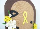 Cancer Awareness Card - Daffodil Garden Door - LARGE
