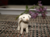Super tiny felted cute lamb miniature - soft sculpture - farm