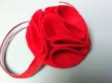 Elegant felt flower band