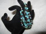 Turquoise & Multi Color Tourmaline 3 Strand Bracelet