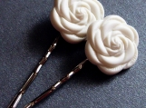 Ladyfingers - Rose Bobby Pins (Set of 2)