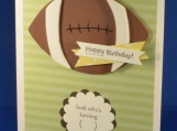 Birthday Football (wood)