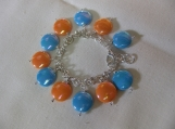 Children's Blue & Orange Charm Bracelet