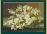 Yellow Roses Cross Stitch Pattern