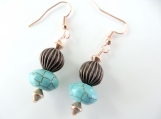 Copper twirl earrings