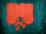 NCA orange crochet booties