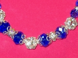 Necklace with Dark Sapphire Crystals
