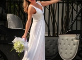 designer wedding/graduation dress, sample sale, prom dress
