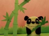 Panda Bear Finger Puppet
