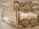 smoky, 4 frame, picture frame bracelet