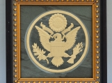The Great Seal of US - Engraved Grey Slate Tile Plaque Frame