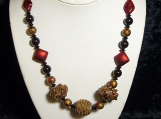 Leather and Carnelian Necklace