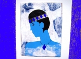 Blue Woman original mixed media