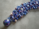 Icy Blue Beaded Bracelet