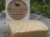 Orange Ginger Cold Process Goats Milk Soap - 5oz