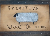 Primitive Wool Co. Hand-Painted Floor Cloth/Floorcloth 