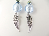 Baby blue angel wing earrings