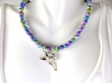 Girls rainbow fairy necklace