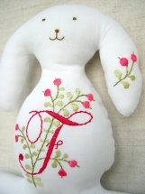 Personalized Bunny with Pink Berries