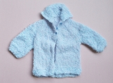 Soft Blue Hand-Knitted Jacket for a Baby Boy