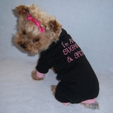 Sugar & Spice Dog Pet Pajamas Rompers Embroidered  Size Medium - Large