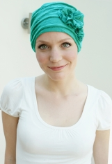 Stylish chemo headwear for womens hair loss - Teal / Sea Green