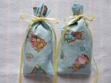 "Easter Blue 4""X2"" Sachet-'Pink Lime' Fragrance-Cindy's Loft-015"