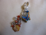 Orange and Blue Butterfly Handbag Accessory