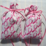 """Pink Ribbon 4""""X2"""" Sachet-Lily of Valley Fragrance-738"""