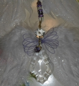 Crystal Angel suncatcher window ornament