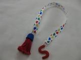 Multi-Coloured Heart Ribbon Personalized Bookmark