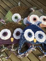 Child Owl Hat, Kids Crocheted Owl Hat, Owl Hat, Crocheted Hat