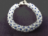 Beautiful hand beaded bracelet made from all glass beads and pearls.