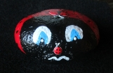 Lady Bug Hand Painted Rock 5x5 Weather Proof