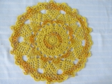 "Gold 10.5"" Doily-Variegated Pineapple Cotton Doily-Cindy's Loft"