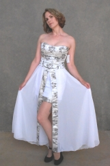 Silver and White Princess 2 Piece Dress ( M )