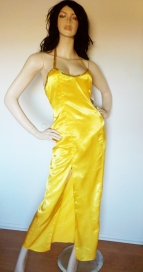 Yellow Glam Satin Evening Dress ( S )