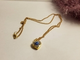 Evil eye heart charm plated gold chain / evil eye protector necklace / evil eye necklace